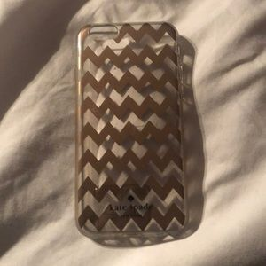Kate Spade rose gold chevron iPhone 6 case